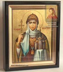 Рукописная икона Святой равноапостольной княгини Ольги на заказ