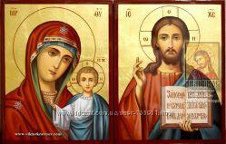 Венчальные иконы рукописные на свадьбу и венчание на заказ