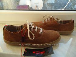 Замшеві підліткові туфли- мокасіни Португалія
