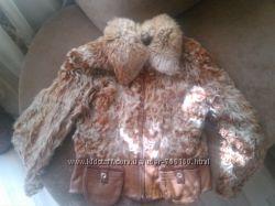 Куртка из козлика с кожанными вставками