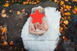 Шикарное свадебное платье невенчаное