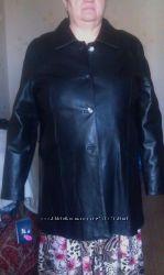 кожаная куртка, большой размер 56-58