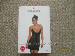 Сорочка Obsessive с игривыми кружевными оборками