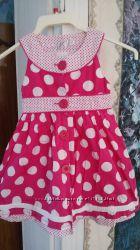 Красивое платье в горошках