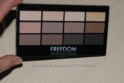 freedom палетки теней матовые на 12 и др. расцветки пигментированые