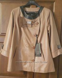 Кожаная мягусенькая  куртка пиджак кардиган Турция
