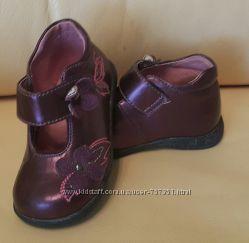 Туфельки ботинки кожа девочка 21р. 14 см