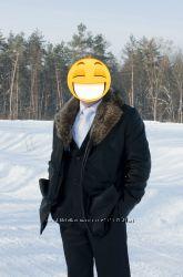 Срочно - Кожаная зимняя дублёнка
