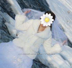 Срочно - Белоснежная шубка для леди