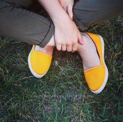 Эспадрильи желтые