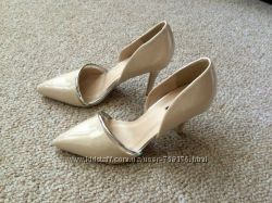 Женские свадебные светло-бежевые айвори босоножки туфли на каблуке 36-37р