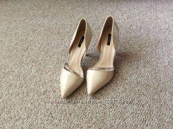 Элегантные свадебные айвори босоножки на каблуке 36-41