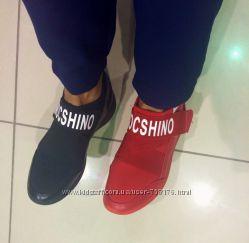 Женские кроссовки без шнурков на резинке, стильная модель mocshino, 36-41
