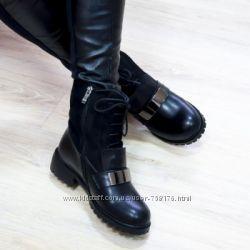 Женские зимние ботинки сапоги челси, на меху, модели 2016 , 36-40р
