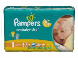 Pampers baby-dry 1-ка 43шт