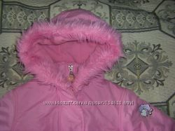 Дизайнерская теплая демикуртка и зимняя  на малышку 80-92 см