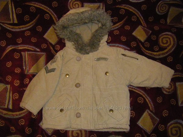 Пальто, теплая  осенне-зимняя куртка  74-92 см, 98 см