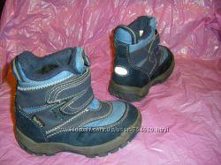 Зимние с мехом и синие термосапожки ТСМ  27-28