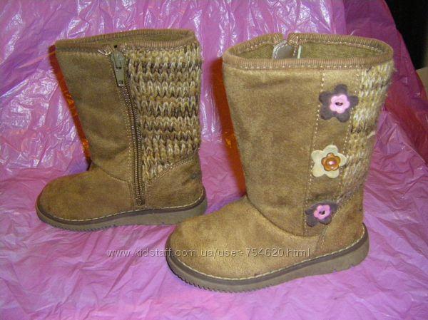 Зимние ботиночки с мехом   р. 25-28, сиреневые