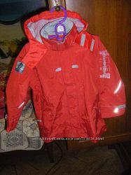 Супер шерстяное пальто и ветровка  POLO  ASSN  на флисе 134-146