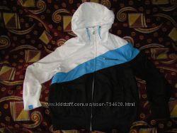 Котоновая бежевая куртка-ветровка Capricio, синяя Quechua   146-152