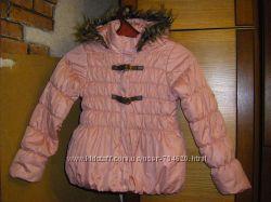 Розовая курточка, двухсторонние осенние куртки-ветровки-дождевики р. 140