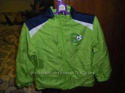 Прелестные пальтишки, салатовая куртка ветровка MOTHERCARE  рост 98-104