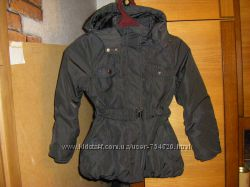 Новенькое шерстяное пальто и потрясная куртка  красотке 9-11 лет