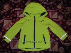 Новая  куртка Софт шелл, Тополино на флисе, плащ р. 80-104 см