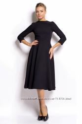 Распродажа Черное приталенное платье