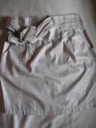 красивая юбка под кожу цвет серебристый шампань, нарядная