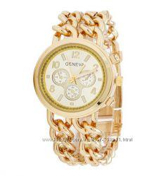Женские часы Geneva - цепочка - 3 цвета