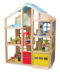 Melissa & Doug Домик для кукол с подъемником Wooden Hi Rise Dollhouse