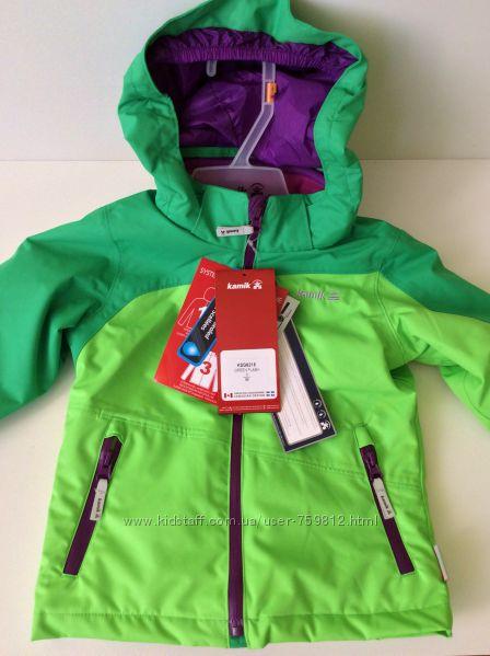 Куртка Kamik 3 in 1- зимняя, деми, флиска. Размер 3-4 года. Рост 98. Замеры