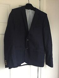 M&S легкий пиджак, блейзер для мальчика 11-12 лет. лён, хлопок
