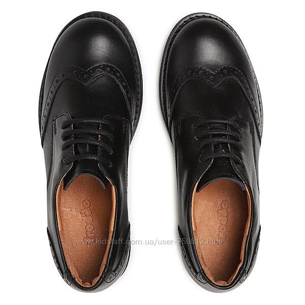 Froddo кожаные школьные туфли броги с супинатором. размер 34. стелька 22,5,
