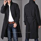Шикарное черное легкое пальто RAPPSON  100 шерсть состояние нового
