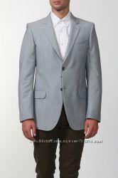 Новый светло-серый мужской пиджак Next 50 проц. wool размер 40R