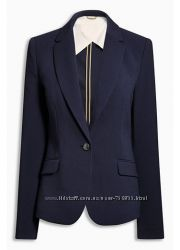 Новый с биркой темно-серый пиджак Next размер 18 UK наш 52