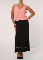Новая с биркой черная макси юбка Evans размер 22 UK наш 56