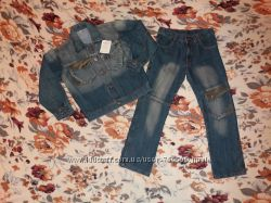 Продам джинсовый костюм на рост 134см