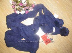 Шикарный вязаный шарф, синий косичка от, Jbc 10177