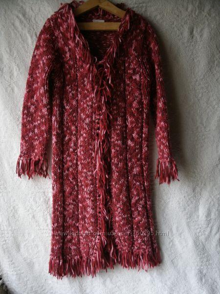 Кардиган-вязаное пальто, Next, для девочки на 7-8 лет