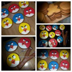 Angry Birds  Энгри Бердз имбирное печенье