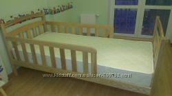 Подростковая кровать , натуральное дерево ольха, ясень, липа