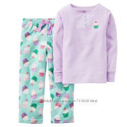 Carters пижама теплая на девочку от 2-5лет