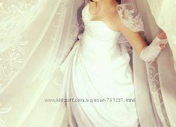 Свадебное платье красивое перчатки в подарок