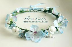 Веночек для волос с цветами