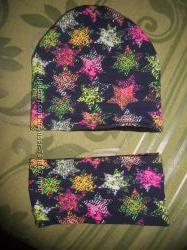 Утеплённый комплект шапка и шарф