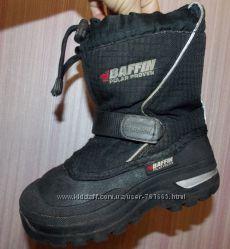 Очень теплые зимние черные термо-сапожки-сноубутсы BAFFIN -12 размер, 18, 5